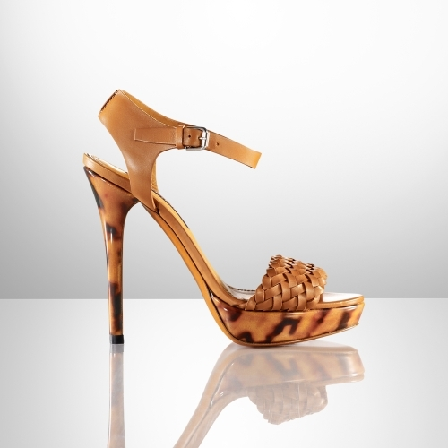 Ralph Lauren Jenie Calf-Tortoise Sandal