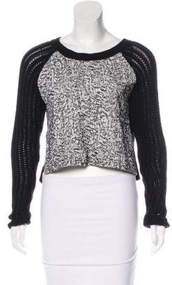 Elizabeth and James Cropped Knit Sweater