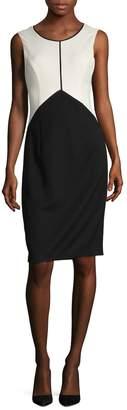 Ava & Aiden Women's Colorblock Crewneck Dress