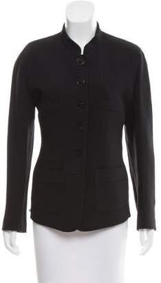 Sonia Rykiel Wool & Silk-Blend Button-Up Jacket