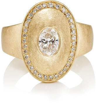 Malcolm Betts Women's Oval Signet Ring