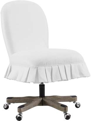 Linon Penny Glitz Ruffle Office Desk Chair