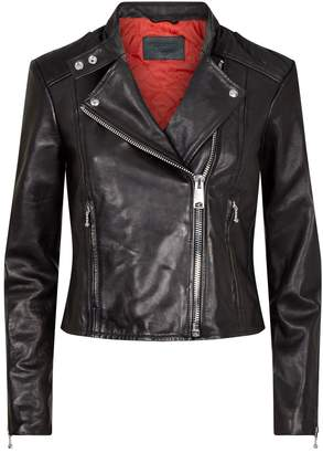 AllSaints Leather Bircham Biker Jacket