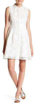 Rachel Rachel Roy Laser Cut Lace Shirtdress $179 thestylecure.com