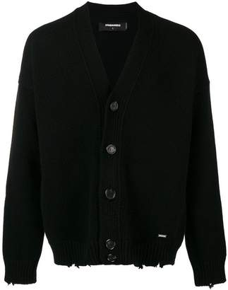 DSQUARED2 chunky frayed cardigan