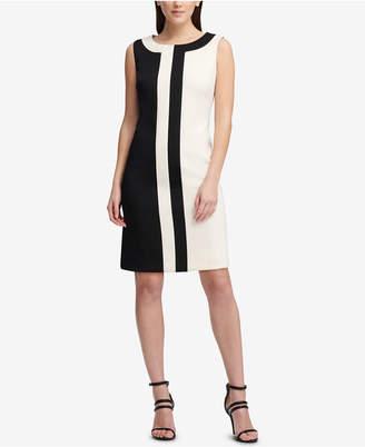 DKNY Sleeveless Colorblocked Dress, Created for Macy's