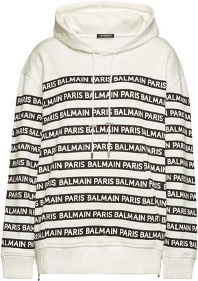 Balmain Printed Cotton Hoody