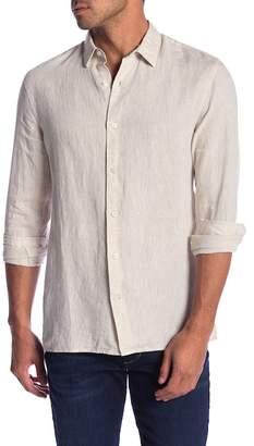 Vince Melrose Square Hem Linen Shirt