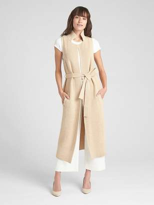 Gap Sleeveless Duster Cardigan Sweater