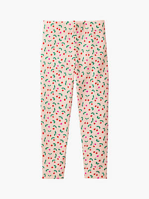 Boden Mini Girls' Cherry Leggings, Parisian Pink