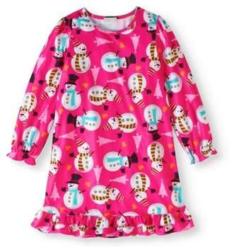 Komar Kids Girls' Snowman Sleep Gown