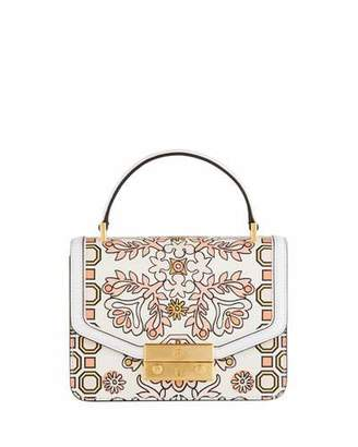 Tory Burch Juliette Mini Printed Leather Top-Handle Bag
