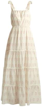 ATHENA PROCOPIOU Summer Morning tiered cotton and silk-blend dress