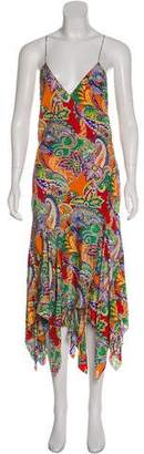 Ralph Lauren Silk Printed Maxi Dress w/ Tags