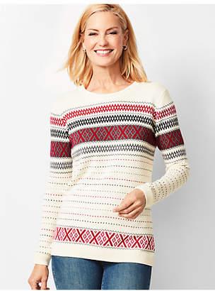Talbots Crisscross Fair Isle Sweater