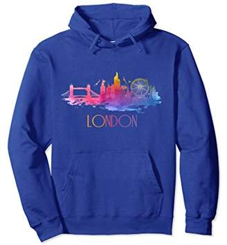 Elegant Beautiful London City Skyline Graphic Art Tee Hoodie