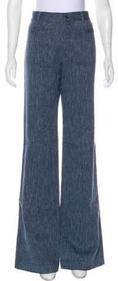 Nili Lotan High-Rise Wide-Leg Jeans