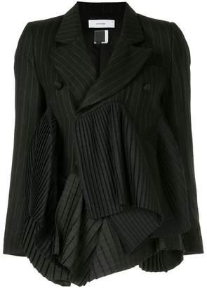 Facetasm Euphoric Pleats striped blazer