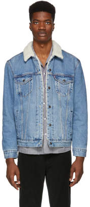 Levi's Levis Blue Type 3 Youngston Sherpa Trucker Jacket