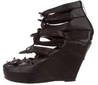 Rick Owens Platform Wedge Ankle Boots Black Platform Wedge Ankle Boots