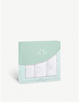 Aden Anais Aden + Anais Set of three Silver Deco muslin squares