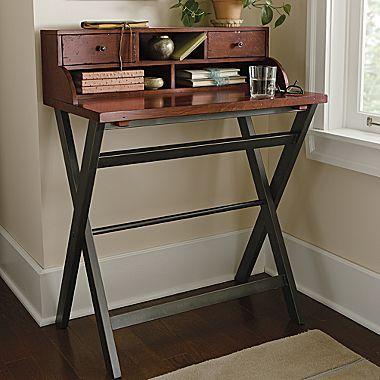 Waxed Brown Writing Table