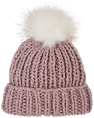 5bfda9c7bab Barneys New York WOMEN S POM-POM-EMBELLISHED WOOL-BLEND HAT - ROSE