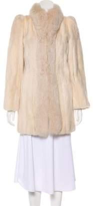 Fur Fox-Trimmed Mink Coat