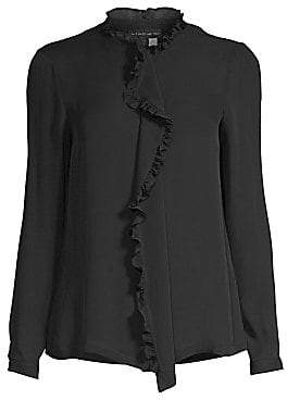 c886944fd35944 Etro Women s Silk Ruffle Front Blouse