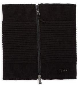 John Varvatos Ottoman Knitted Zip Neckwarmer