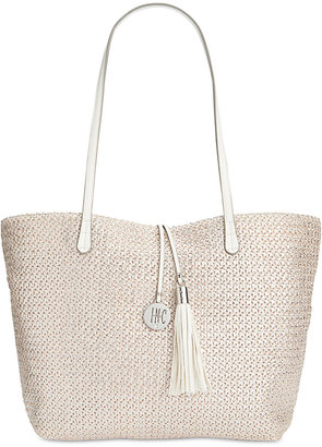 INC International Concepts La Izla Straw Beach Bag, Only at Macy's $69.50 thestylecure.com