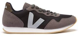 Veja Rum Low Top Suede And Mesh Trainers - Mens - Grey