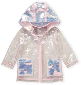 Urban Republic Toddler Girls) Pink Transparent Sequin Raincoat