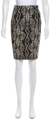 Donna Karan Printed Knee-Length Skirt