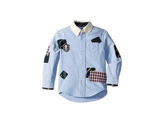 Polo Ralph Lauren Patchwork Cotton Oxford Shirt (Toddler)