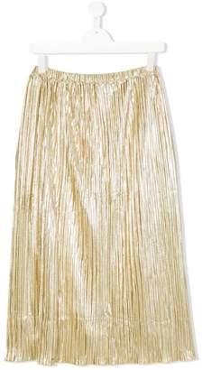 Diesel plissé metallic skirt