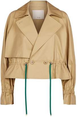 Tibi Finn Cropped Trench Jacket