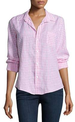 Frank And Eileen Barry Long-Sleeve Grid-Print Shirt, Pink