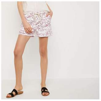 Joe Fresh Women's Print Short, Dark Red (Size M)
