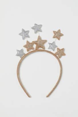 H&M Hairband with Stars - Gold