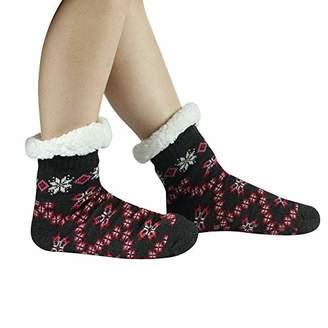 Sunew Women's Ultra Thick Fuzzy Grip Socks