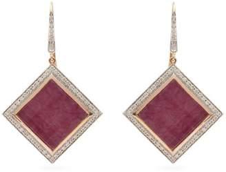 Jade Jagger Neverending Ruby 18kt Gold Earrings - Womens - Red