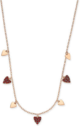 Macy's Danori Rose Gold-Tone Pavé Heart Collar Necklace, Created for