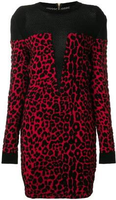 Balmain tiger print mini dress