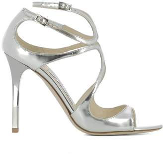 Jimmy Choo Silver Leather Lang Sandals