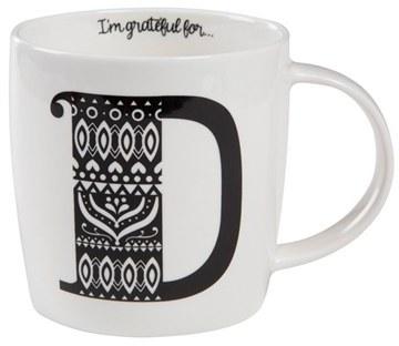 NATURAL LIFE Initial Ceramic Mug