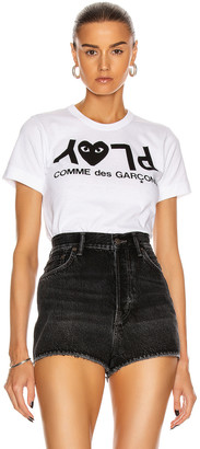 Comme Des Garcons PLAY Jersey Black Print Tee $100 thestylecure.com