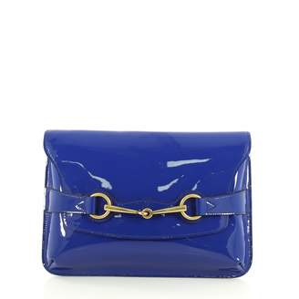 Gucci Blue Patent leather Clutch bags