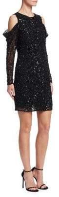 Parker Sequined Cold-Shoulder Dress
