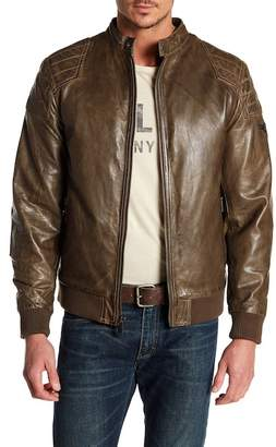 BOSTON HARBOUR VINTAGE High Leather Bomber Jacket